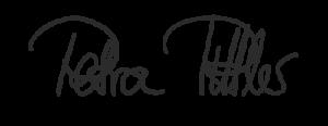 Frauenärztin Petra Pittler Unterschrift grau